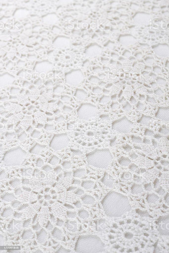 Lace tablecloth stock photo