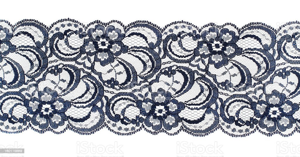 Lace trim ribbon stock photo