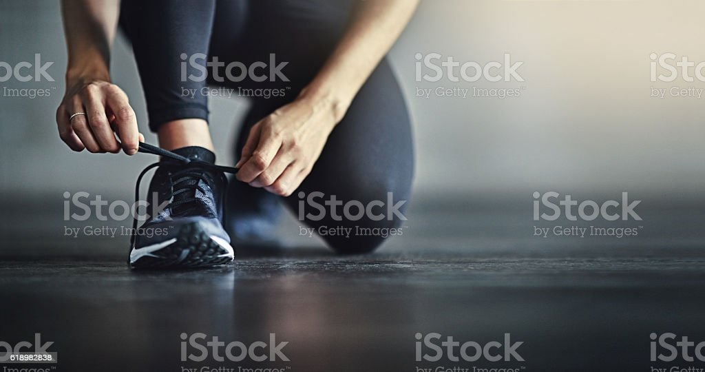 Lace up for the workout of your life stock photo