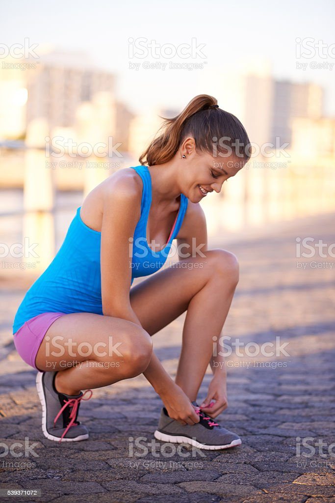 Lace up stock photo