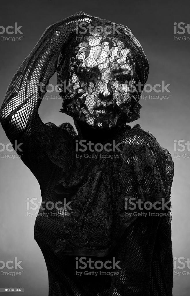 lace woman stock photo