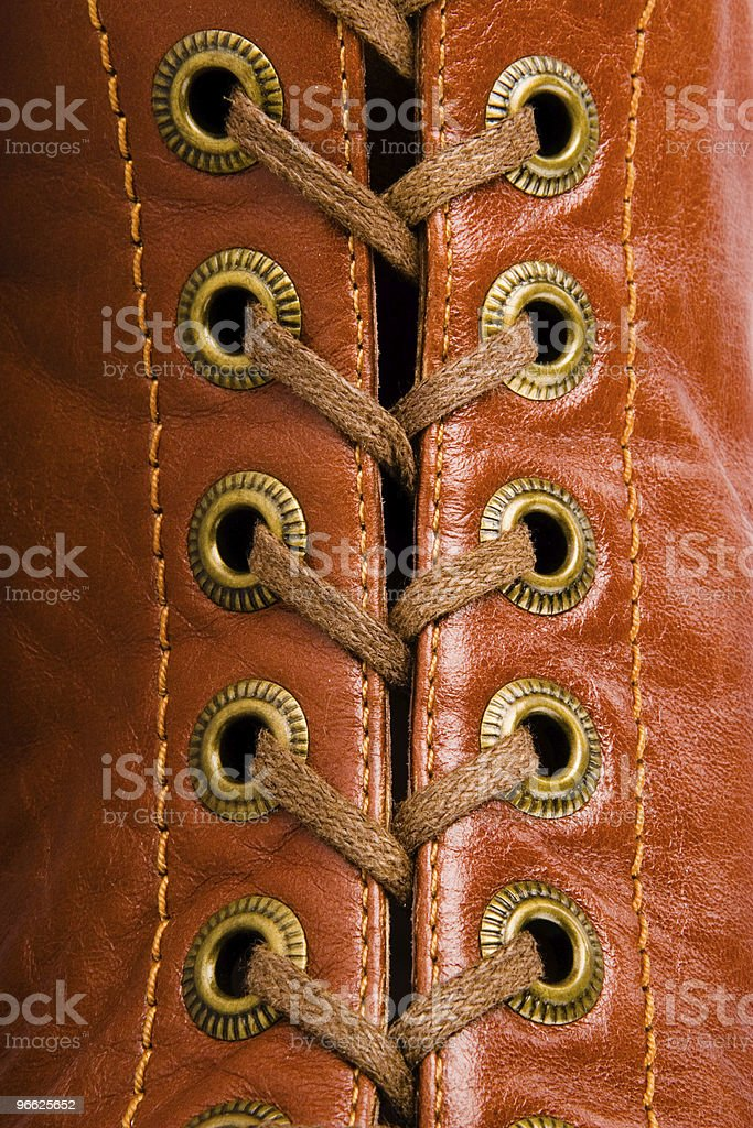Laces in detail. stock photo
