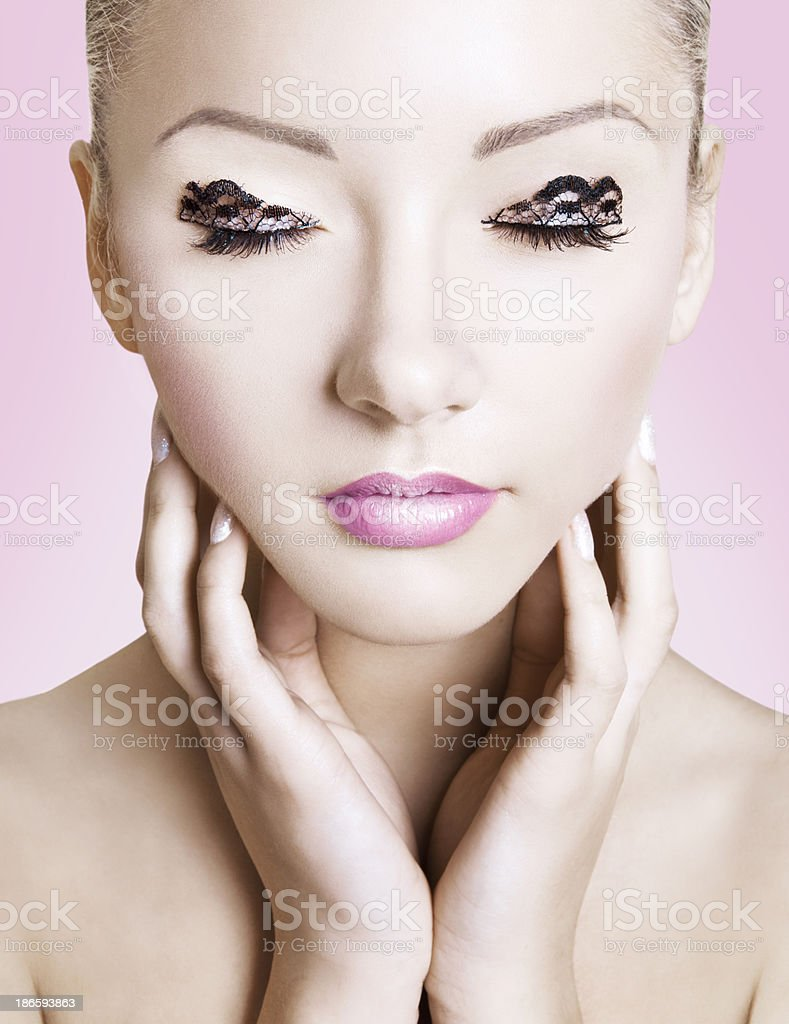 Lacey Eyes royalty-free stock photo