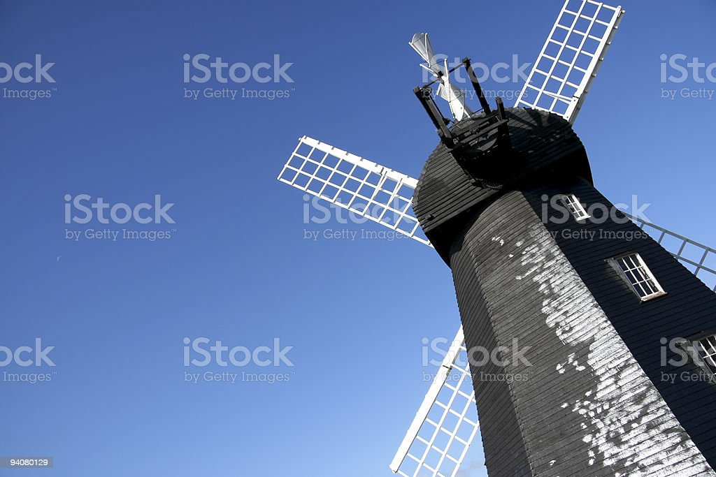 lacey green windmill royalty-free stock photo