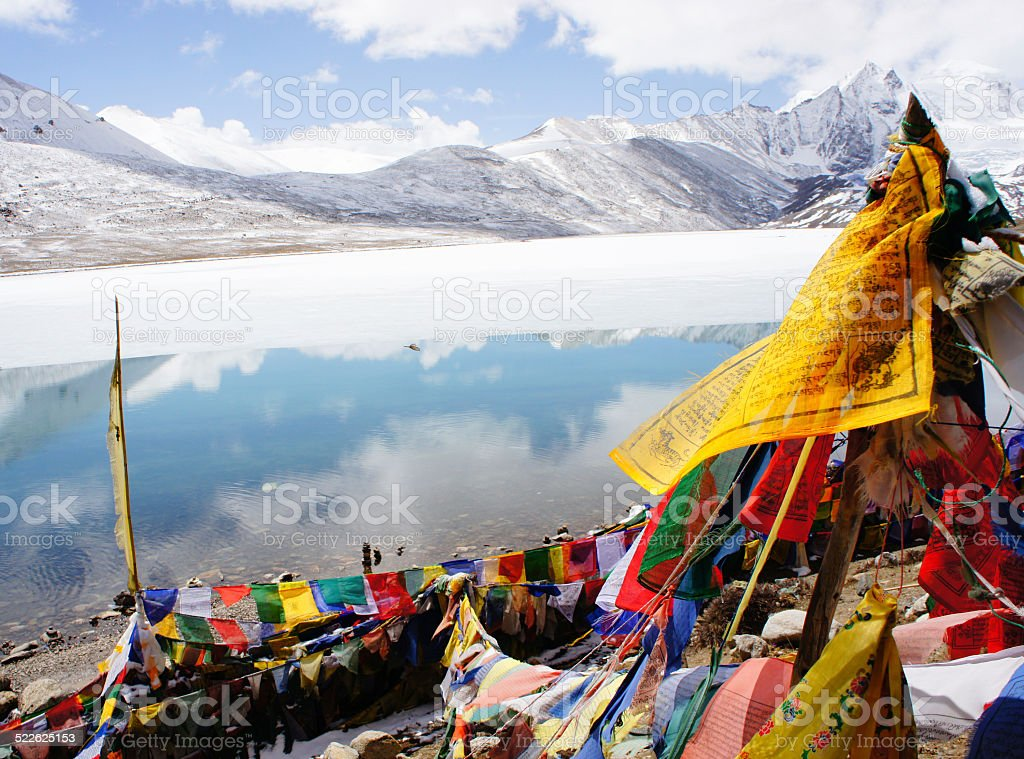 Lachen Gurudongmar Lake Yumthang stock photo