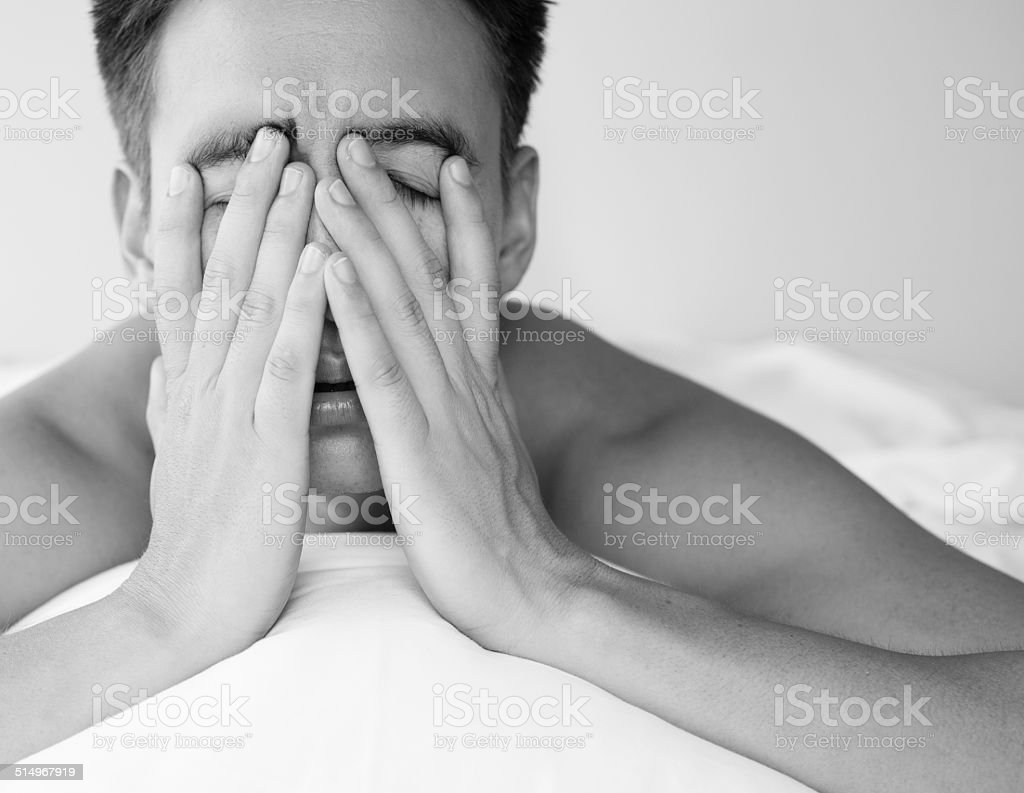 Lack of sleep stock photo