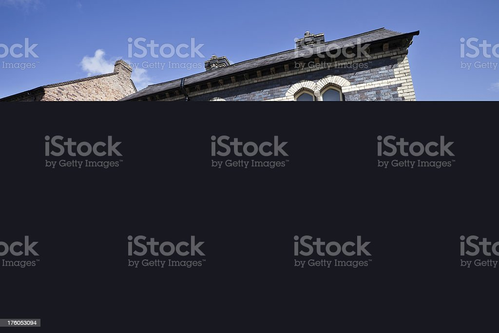 Lacock Abbey Clock Tower and Garages stock photo