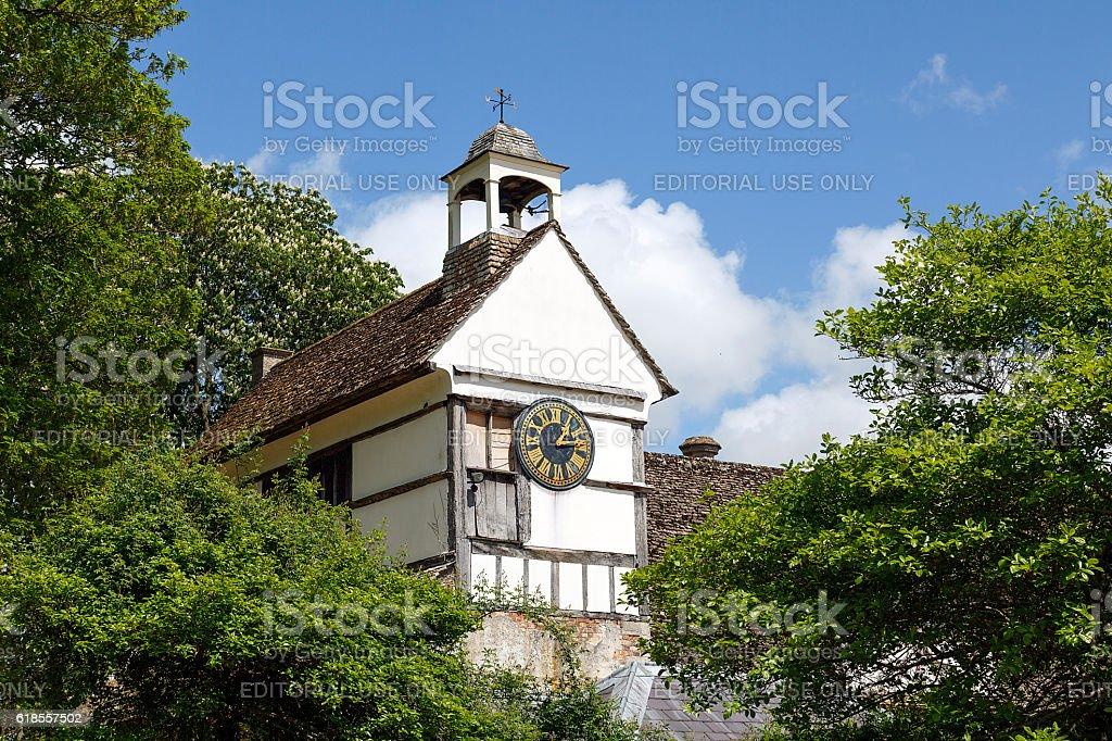 Lacock Abbey - Clock Tower stock photo