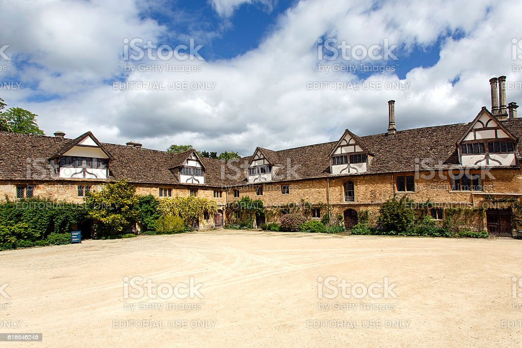 Lacock Abbey stock photo