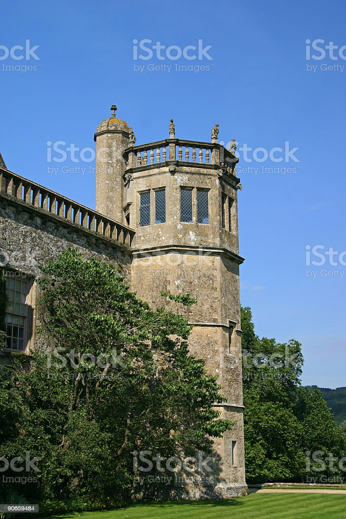 Lacock Abbey Tower stock photo