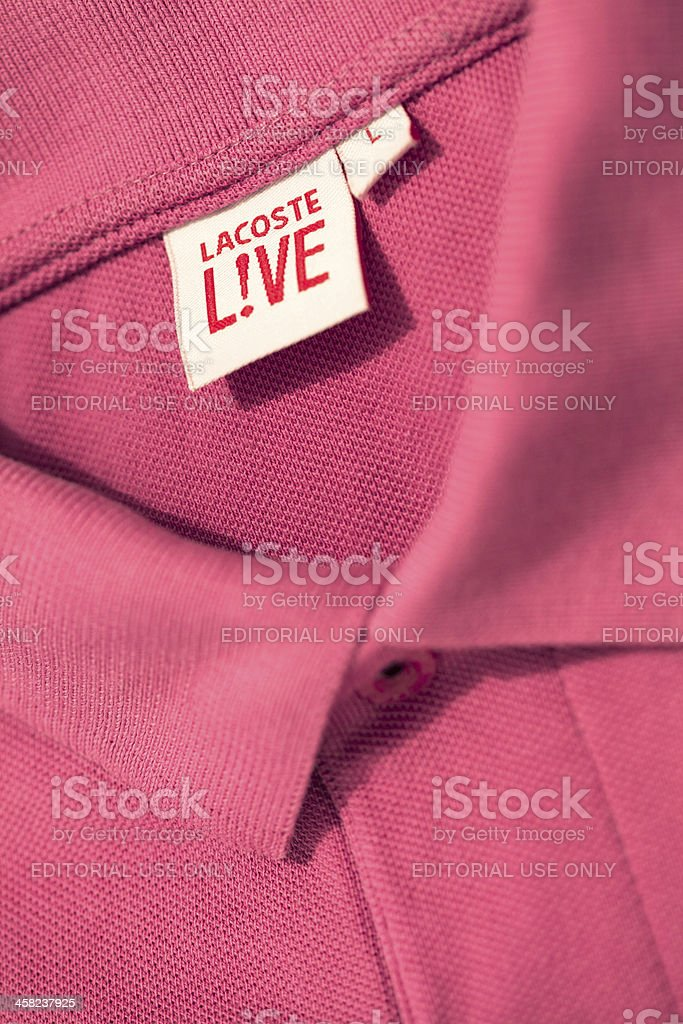 Lacoste Live Tennis Shirt stock photo