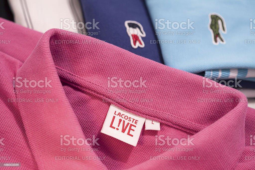 Lacoste Live Tennis Shirt stock photo