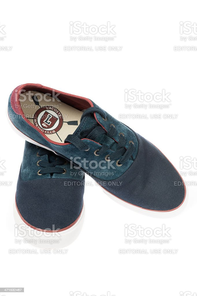 Lacoste Male Shoes royalty-free stock photo