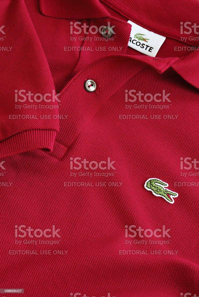 Lacoste Polo T-Shirt stock photo