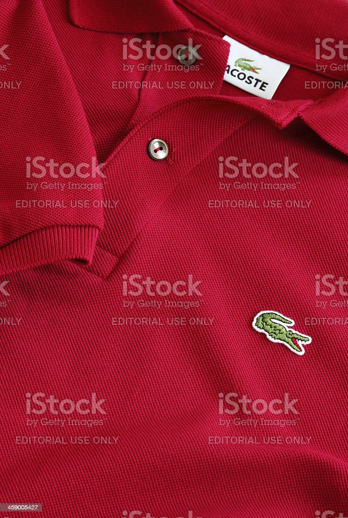 Lacoste Polo T-Shirt stock photo