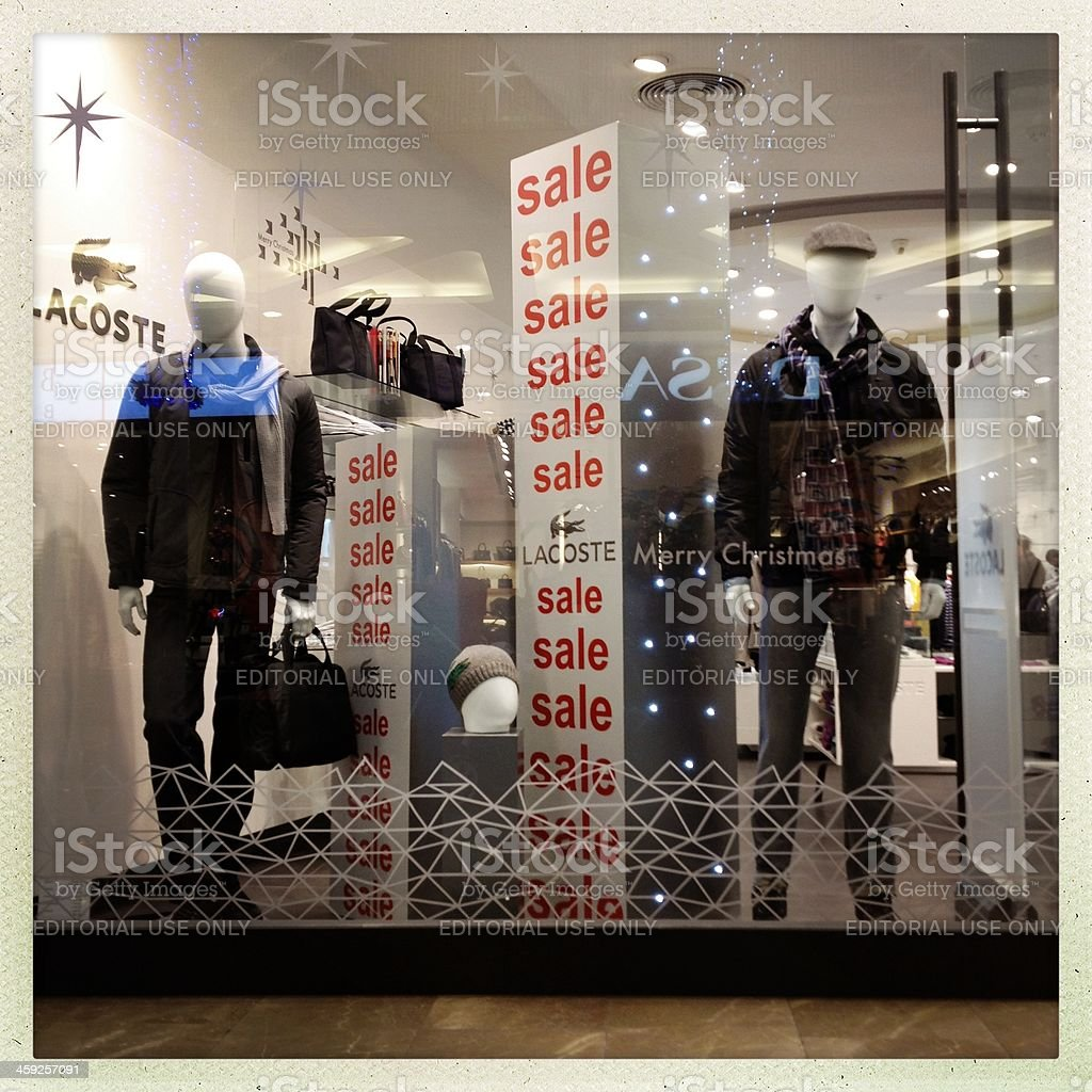 Lacoste Store in istanbul stock photo