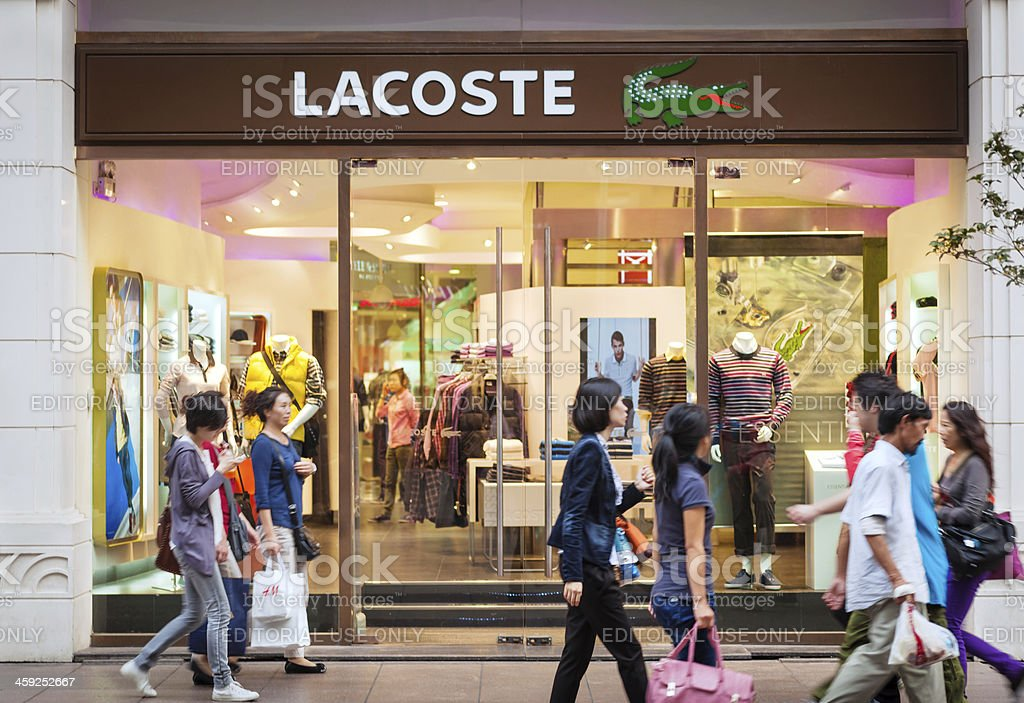 Lacoste store in Shanghai, China stock photo