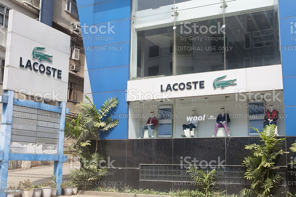 Lacoste store, India stock photo