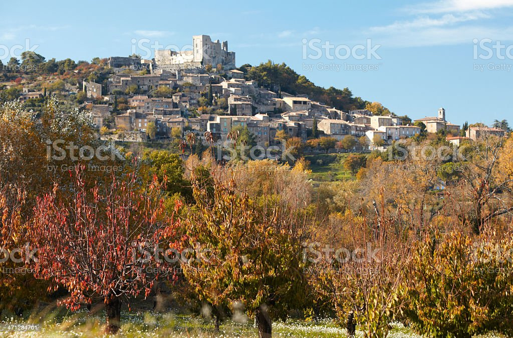 Lacoste, Vaucluse, Provence, France stock photo