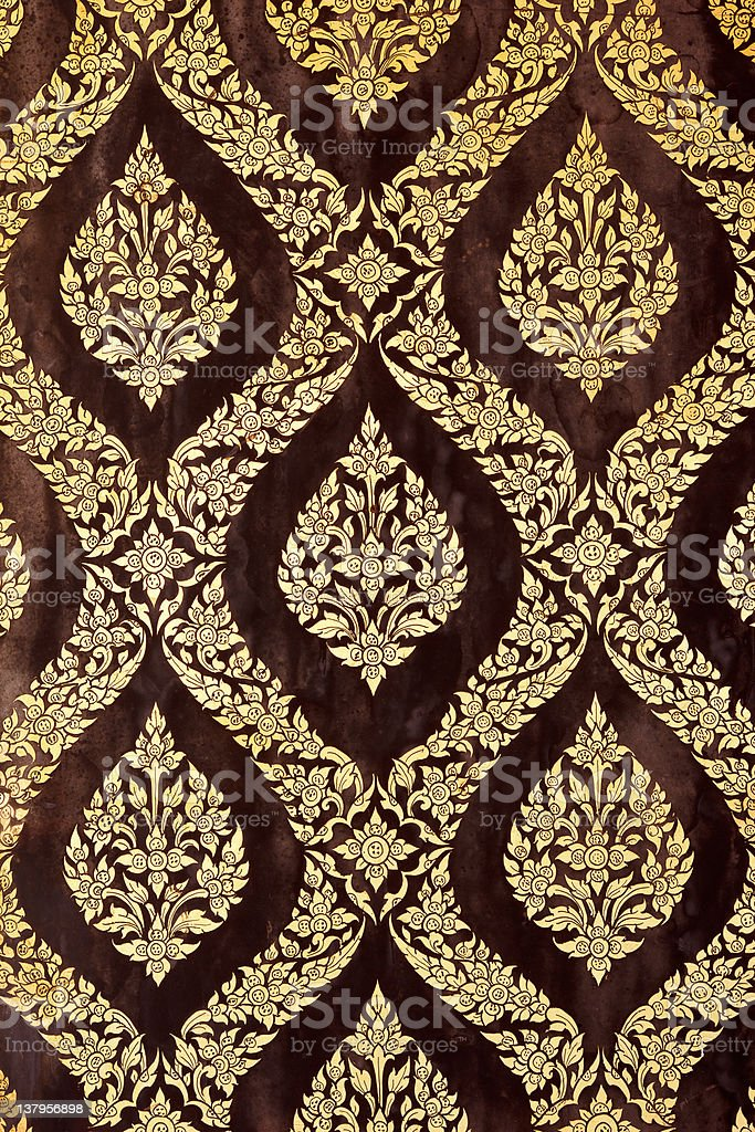 lacquer and gild art pattern royalty-free stock photo