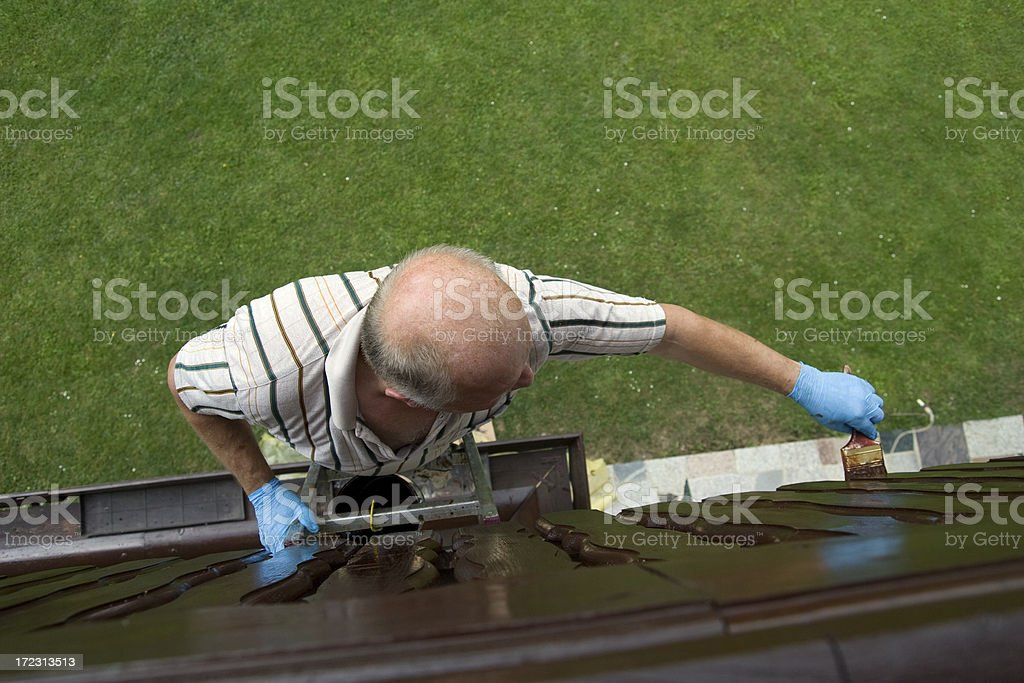 Lacquering stock photo