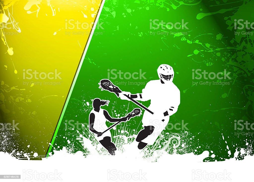 Lacrosse background stock photo