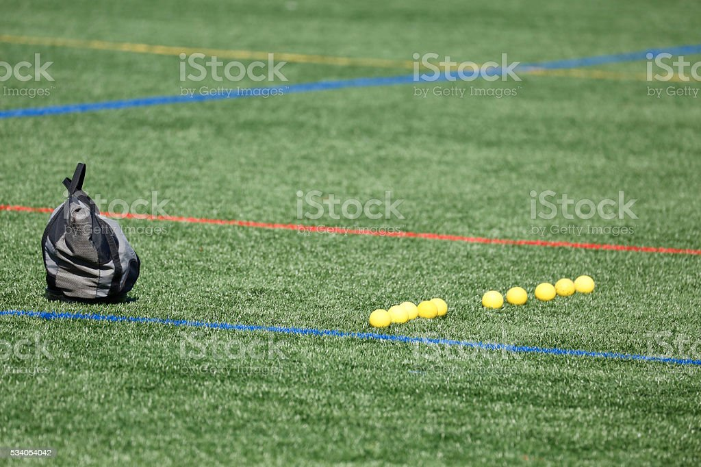 Lacrosse Ball Line royalty-free stock photo