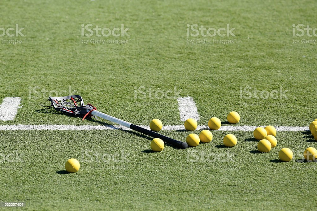 Lacrosse Balls Scattered stock photo