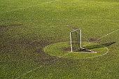Lacrosse Goal in Empty Field