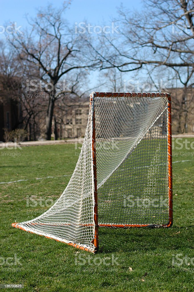 Lacrosse Goal royalty-free stock photo