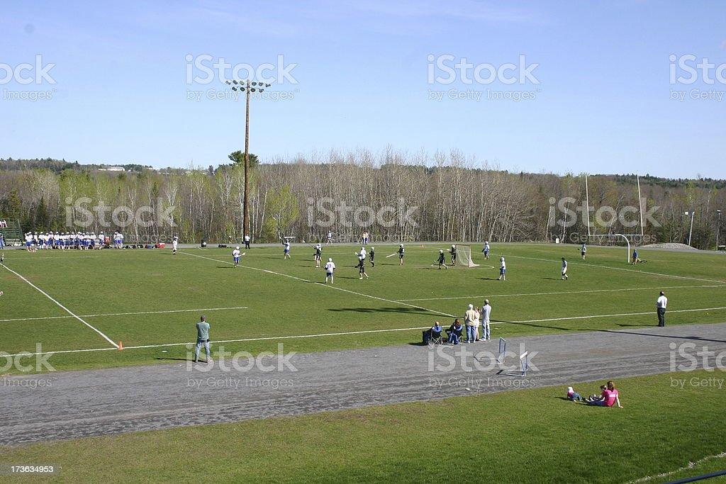 lacrosse match stock photo