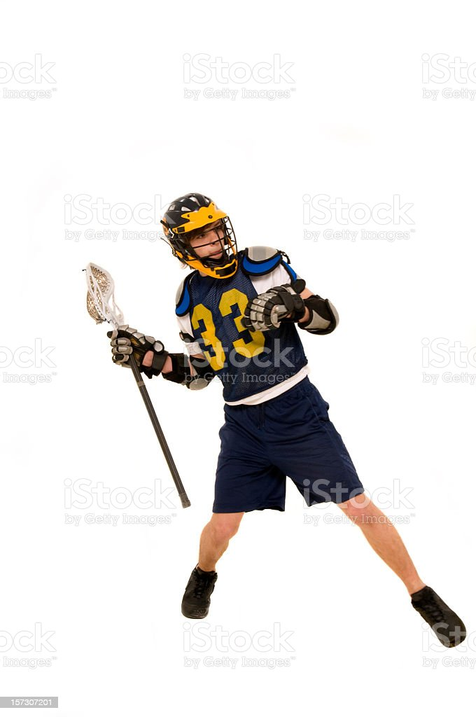 lacrosse player royalty-free stock photo