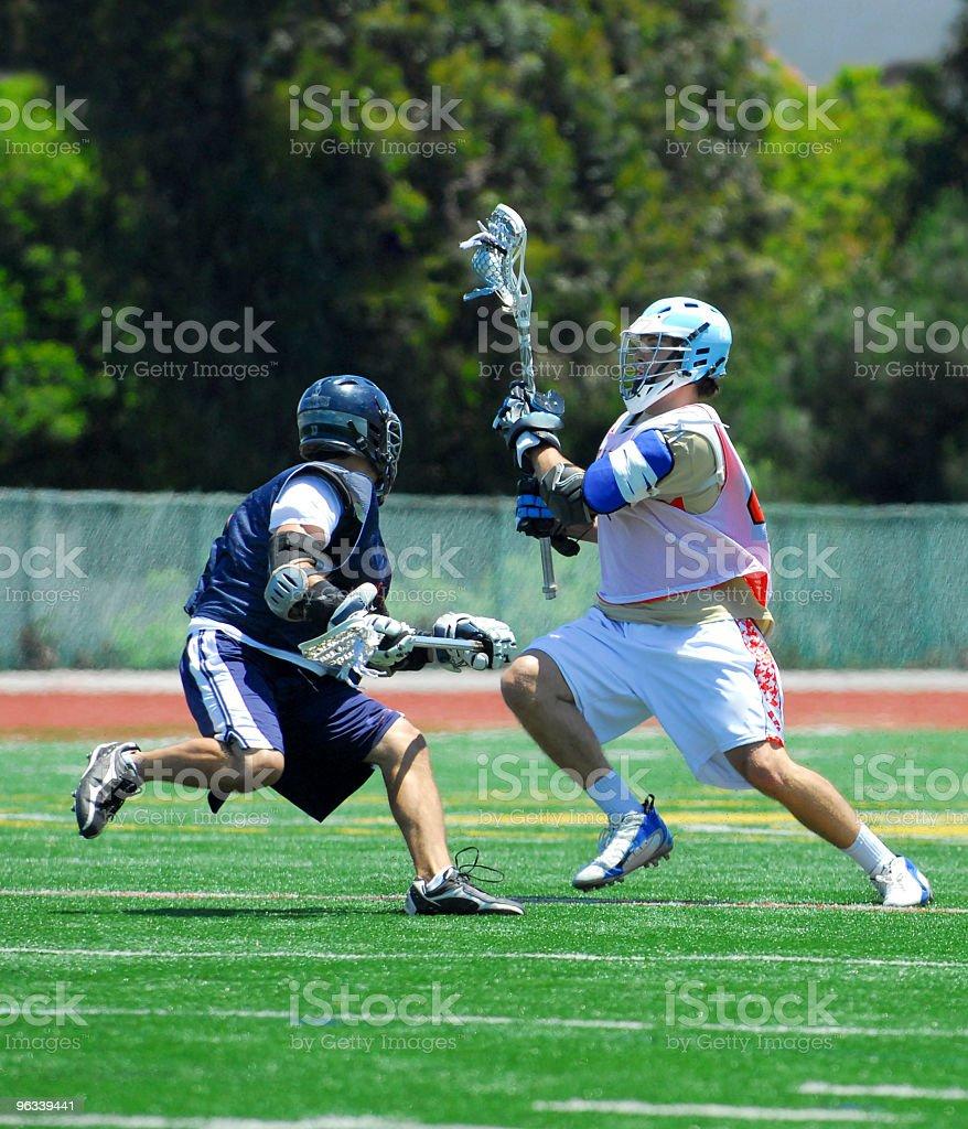Lacrosse Players stock photo