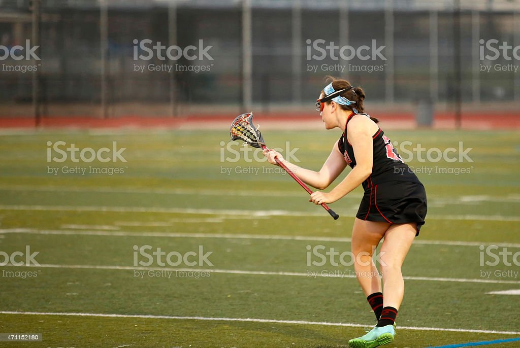 Lacrosse Running Turn royalty-free stock photo