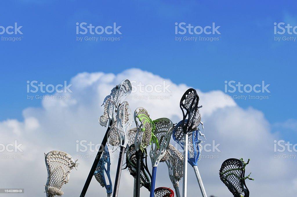Lacrosse sticks in the Sky royalty-free stock photo
