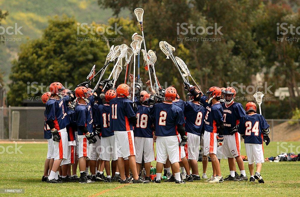 lacrosse team spirit stock photo