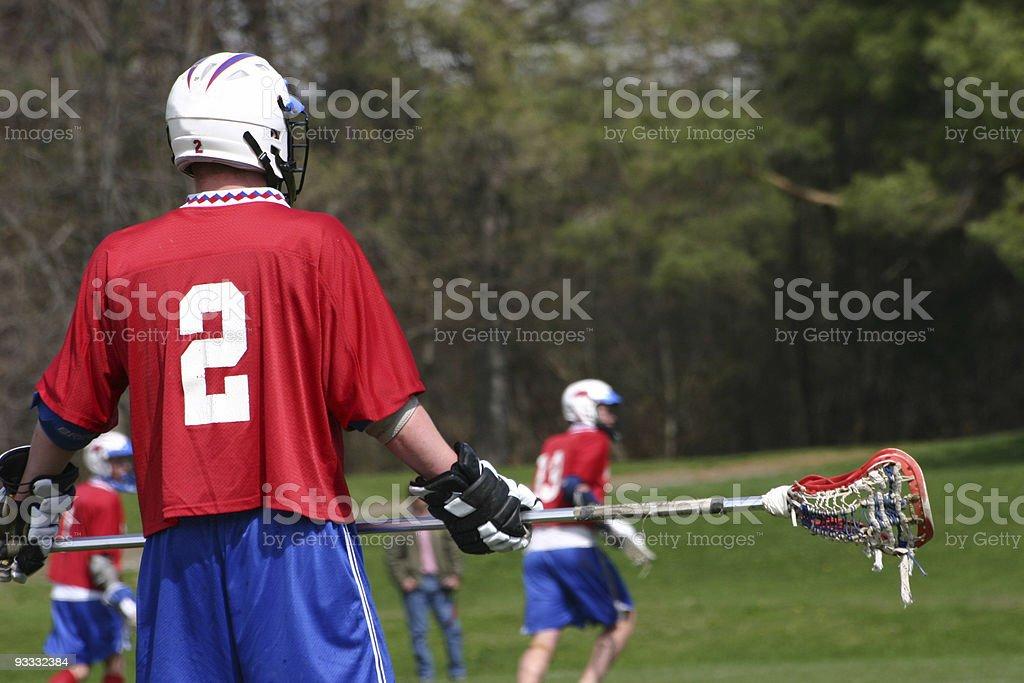 Lacrosse tough guy stock photo