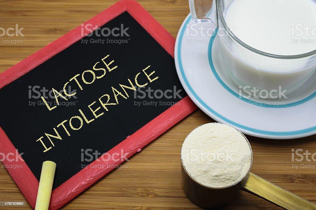 Lactose intolerance concept stock photo