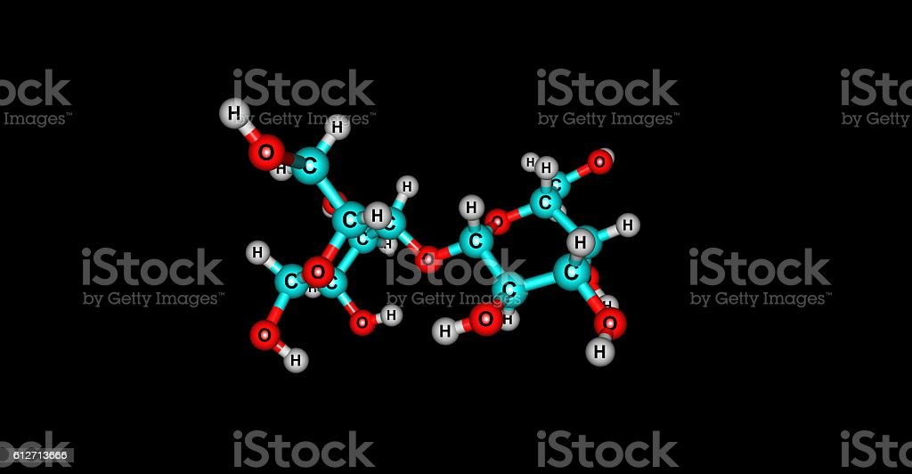 Lactose molecular structure isolated on black stock photo