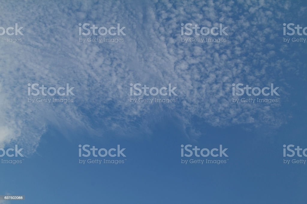 Lacy clouds stock photo