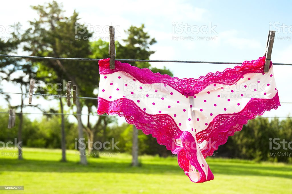 Lacy Underpants stock photo