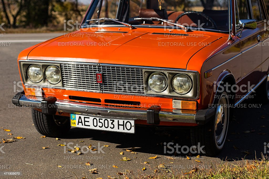 Lada 2106 close-up stock photo