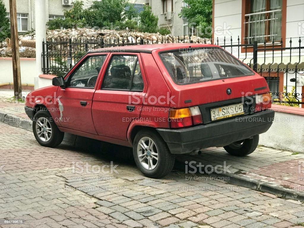 Lada samara car parking in the street stock photo