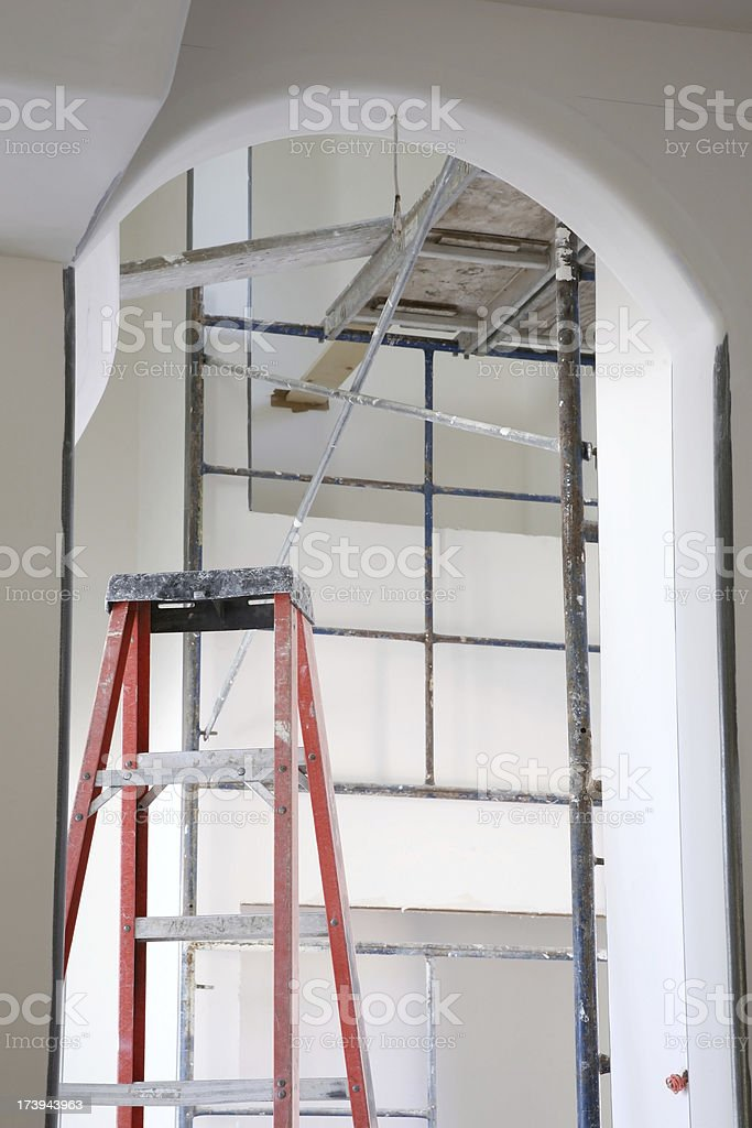 Ladder and Scaffold royalty-free stock photo