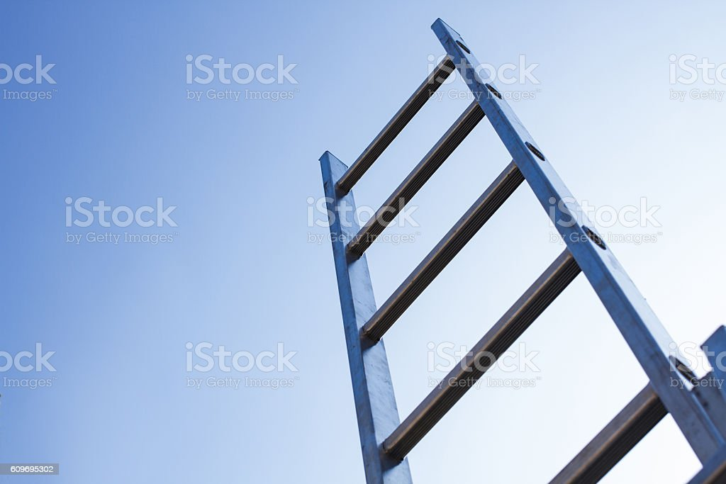 ladder and sky stock photo
