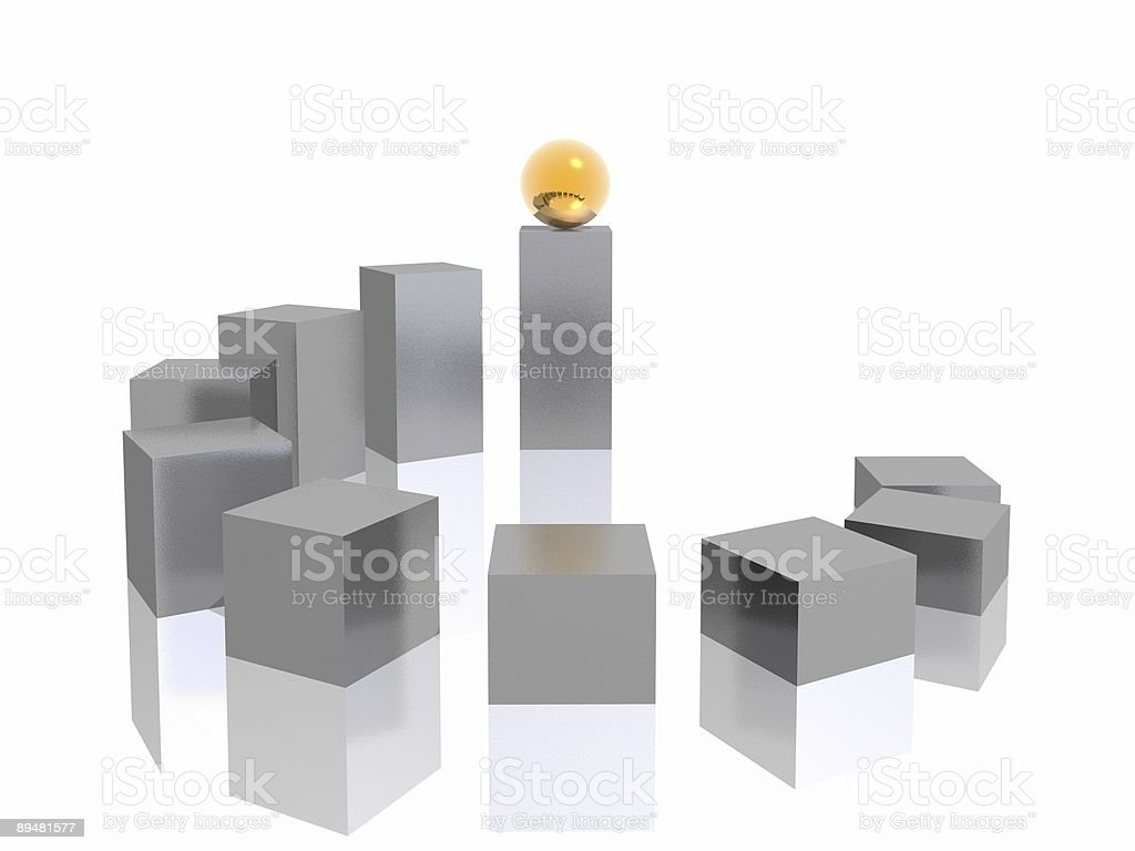 ladder and sphere royalty-free stock photo