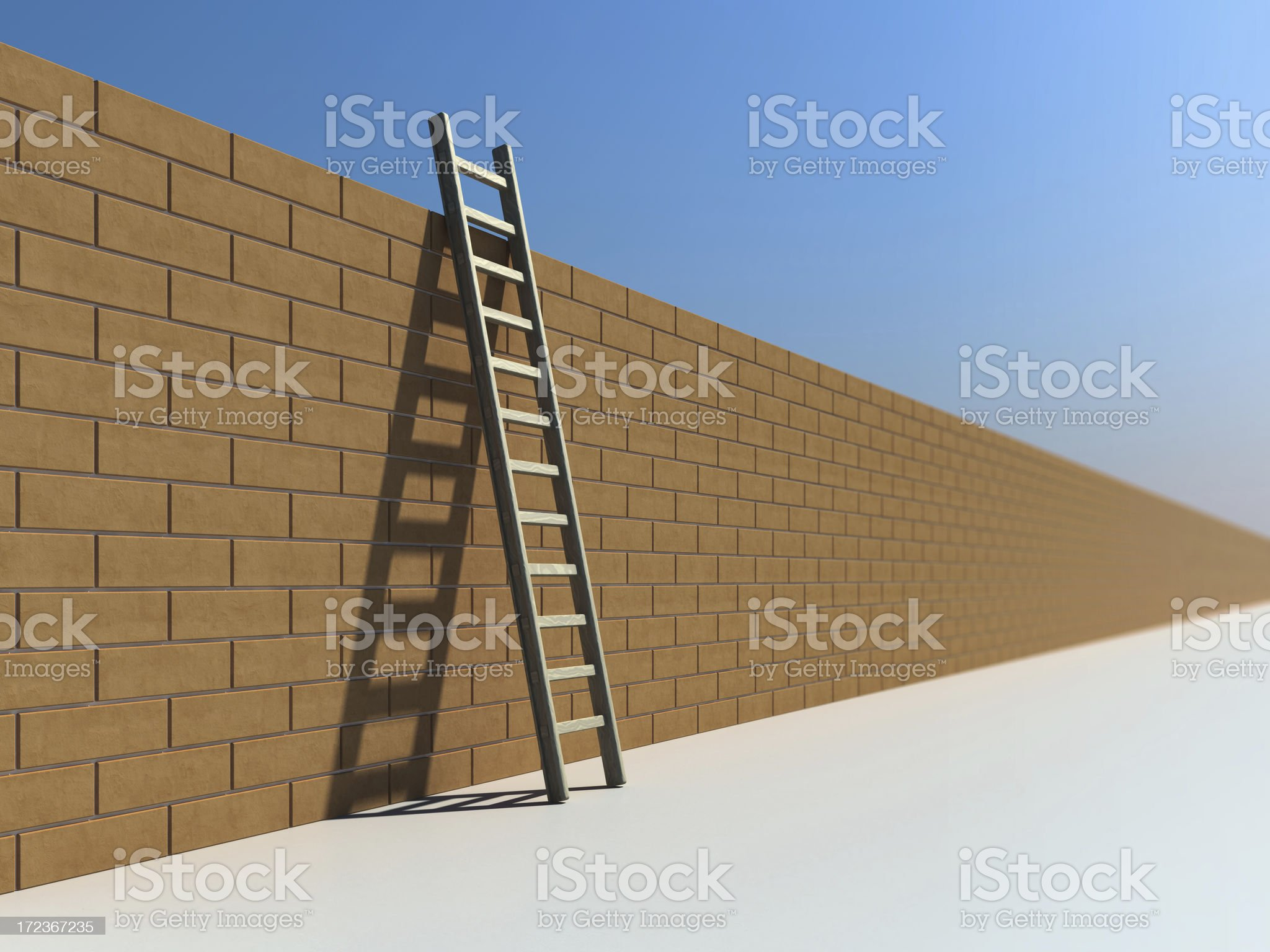Ladder and Wall II royalty-free stock photo