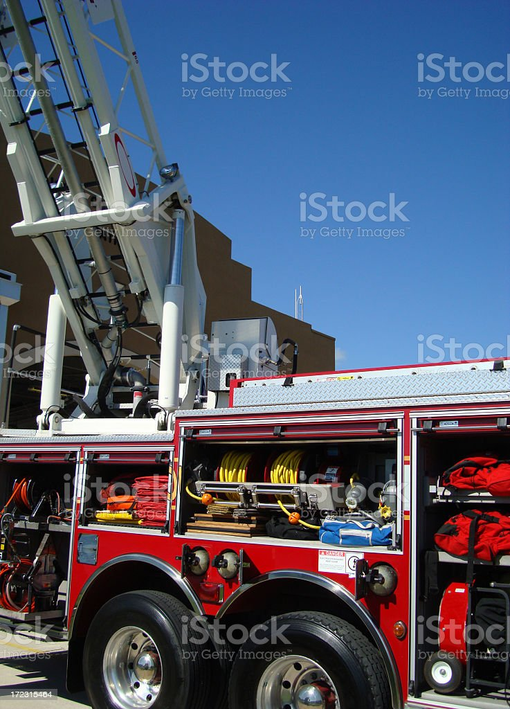 Ladder Fire Engine royalty-free stock photo