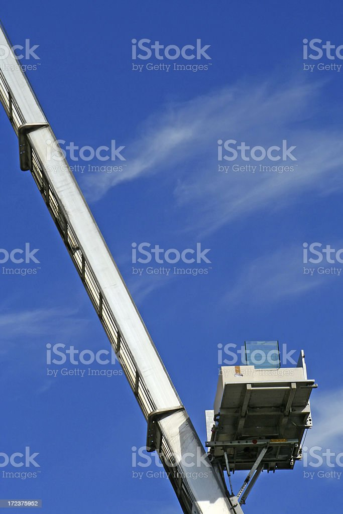 Ladder for removal box royalty-free stock photo