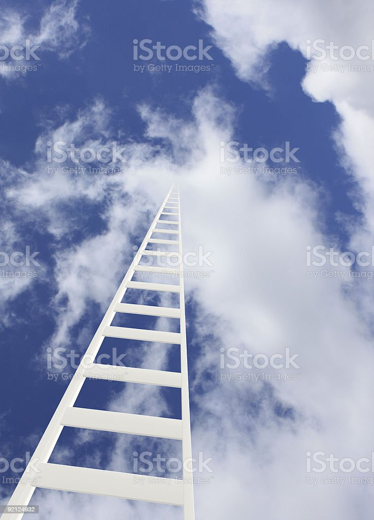 Ladder in the sky royalty-free stock photo